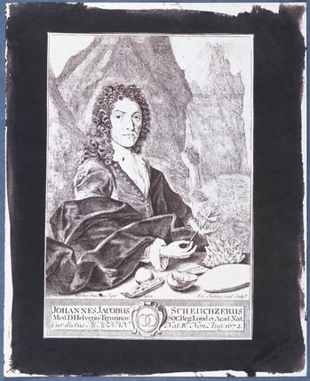 Johann Jakob Scheuchzer, Swiss mathematician, c 1700.