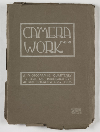 Cover of first edition of 'Camera Work', 1 January 1903.