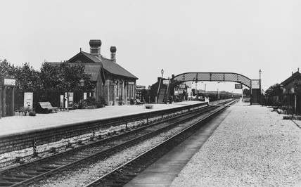 Rhoose station, Vale of Glamorgan, c 1920s.