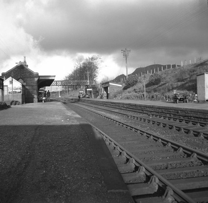 Abergavenny Junction Station, looking north, Monmouthshire, 4 January 1950.