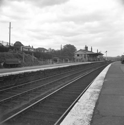 Dinas Powis station, looking north, Vale of Glamorgan, 23 April 1950.