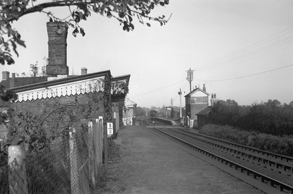 Tram Inn Station looking north, 29 October 1950.
