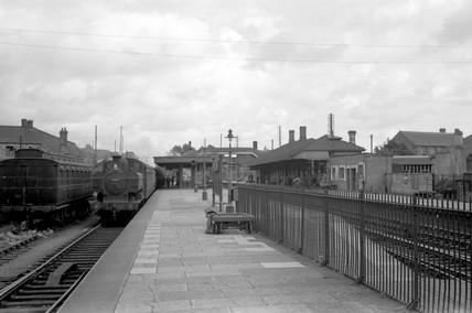 Bridgend station, 7 August 1951.
