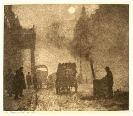 'The Haymarket, Winter', c 1913.