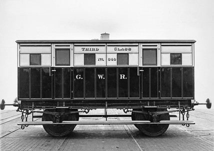 3rd class 4-wheeled passenger carriage, GWR no. 640.