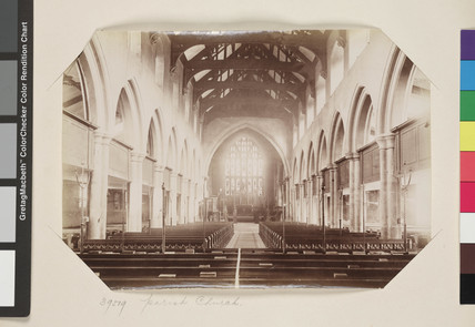 Interior view of the Parish Church, Bradford [Bradford Cathedral] c. 1895.