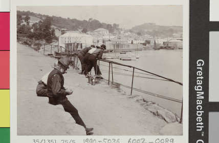 Snap-shot of the Newlyn harbourside, c early 20th century.