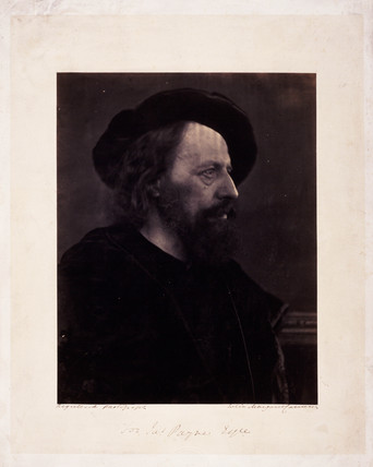 Lord Tennyson, English poet, c 1864.