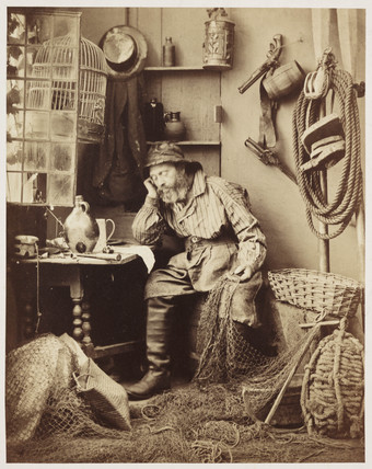 'The Fisherman', c 1855.