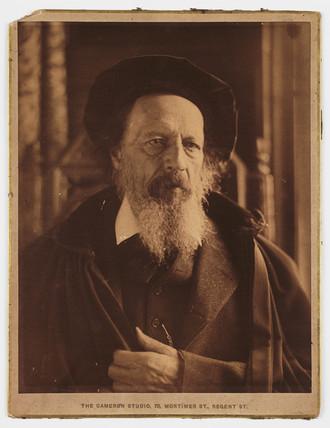 Lord Tennyson, English poet, c 1886.