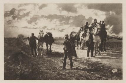 'Ploughing Teams', c 1900.