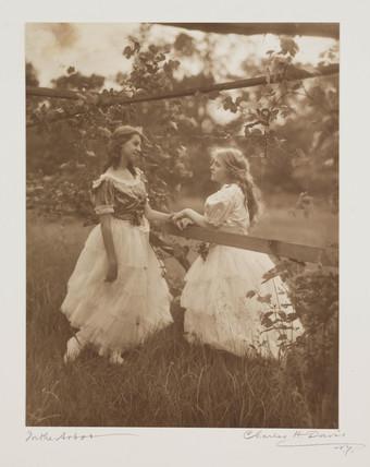 'In the Arbor', c 1910.