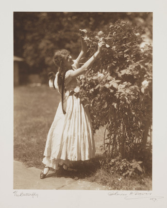 'The Butterfly', c 1910.
