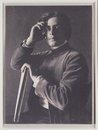 'Kahlil Gibran with Book', 1897.