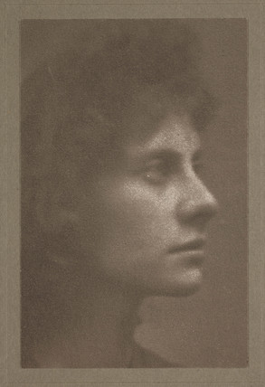 Profile of a woman, c 1900.