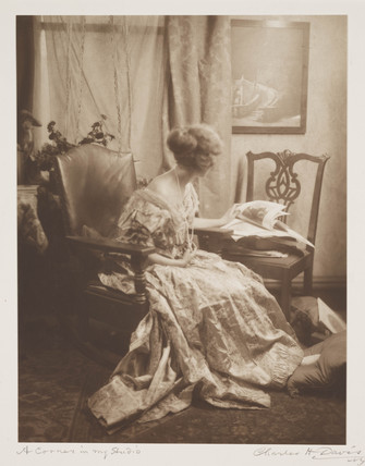'A Corner in my Studio', c 1910.