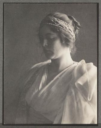 A study, c 1900.