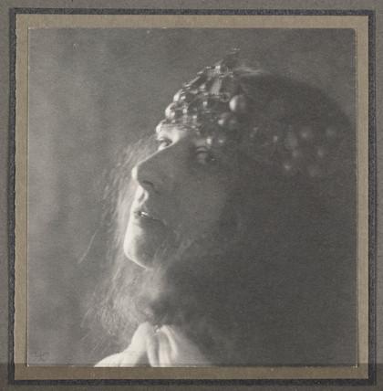 A head, c 1900.