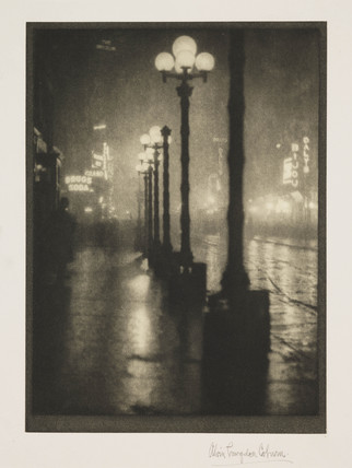 'New York by night', c 1910.