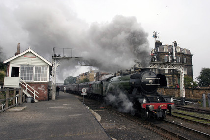'Flying Scotsman' departing Scarborough station, 5 August 2004.