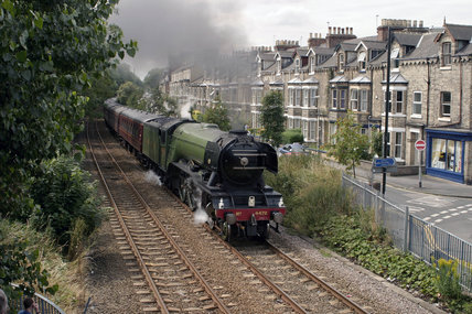 'Flying Scotsman' travelling through York on route to Scarborough, 22 July 2004.