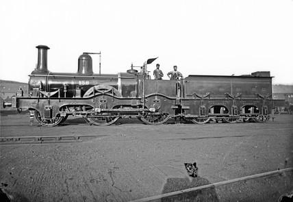 Midland Railway double-framed 2-4-0 locomotive, c 1866.