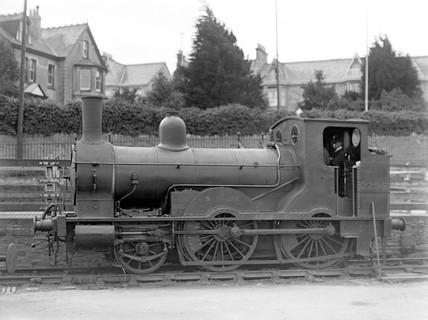 London & South Western Railway 2-4-0WT locomotive No.298, c 1874.