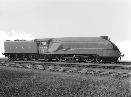 'The Mallard' Locomotive No 4468 A4 class, March 1938.