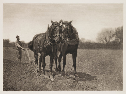 'At Plough - The End of the Furrow', 1887.