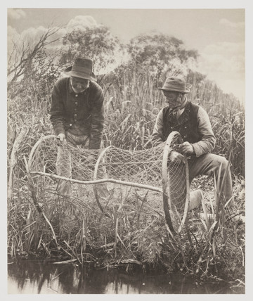 'Setting up the the Bow-Net' 1887.