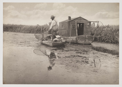 'An Eel Catcher's Home', 1887.