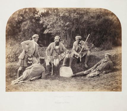 'Highland Gillies at Balmoral', 1856.