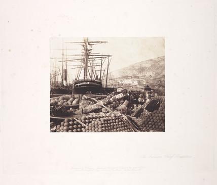 'The Ordnance Wharf, Balaklava', 1855.