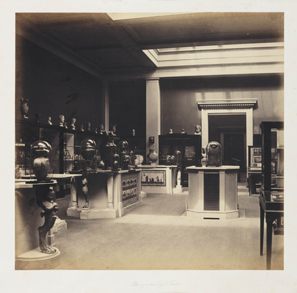 Interior of the British Museum, c 1857.