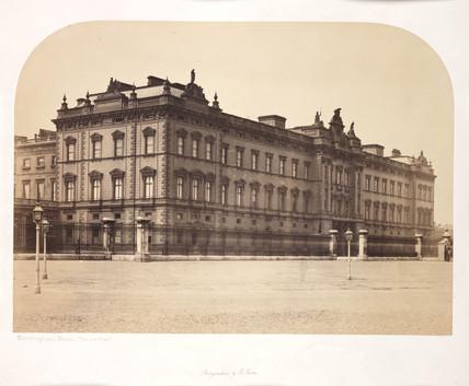 'Buckingham Palace, Old Front', c 1856.