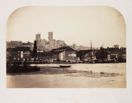 Lincoln Cathedral from Across the River, 1857.