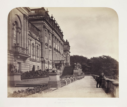 'The Upper Terrace, Harewood', c 1860.