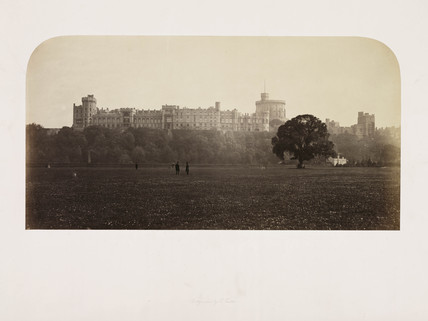 'Windsor Castle, from the Town Park', c 1860.