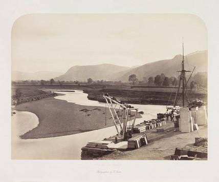 'Slate Pier, Trefriw', c 1857.