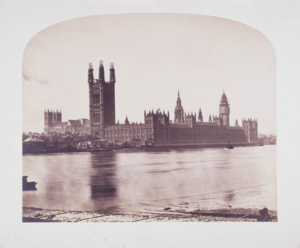 'Houses of Parliament from Lambeth Palace', 1857.