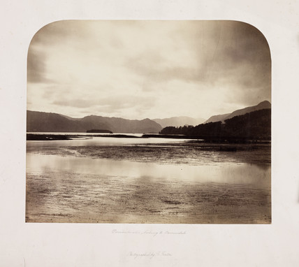 'Derwentwater, looking to Borrowdale', 1860.
