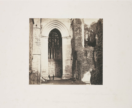 'Arch of the Great Tower, Fountains Abbey', 1854.