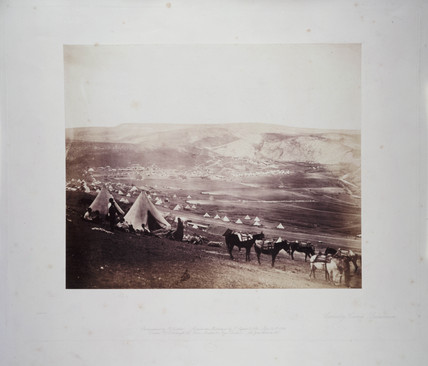 'Cavalry Camp, Balaklava', 1855.