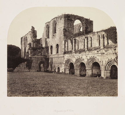'Furness Abbey from the South West', c 1856.
