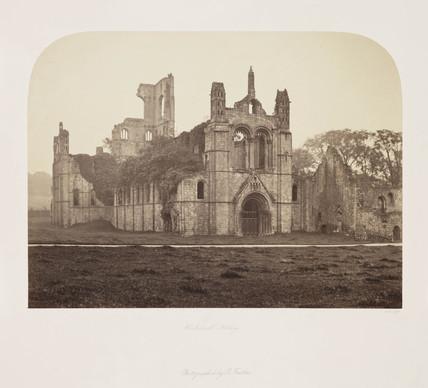 'Kirkstall Abbey', c 1850s.