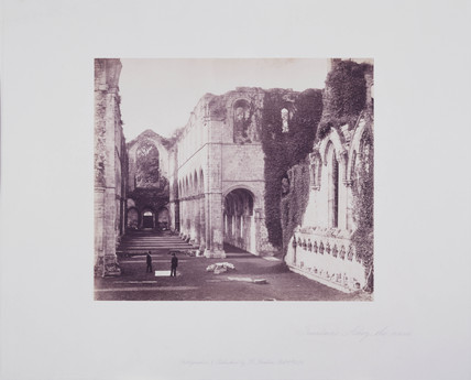 'Fountains Abbey, the Nave', 1854.