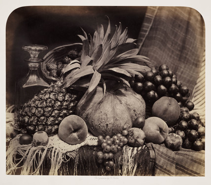 Still life of fruit, 1860.