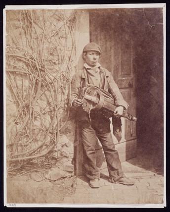 Hurdy-gurdy player, c 1855.