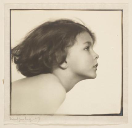 Profile of a child's head, c 1920.