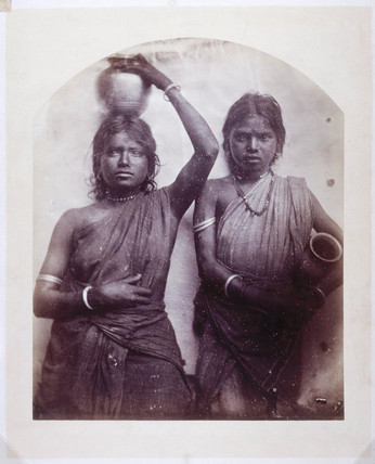 Two young Ceylonese women, c 1875-1878.